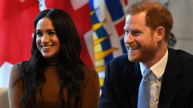 Meghan Markle printul harry The Duke And Duchess Of Sussex Visit Canada House