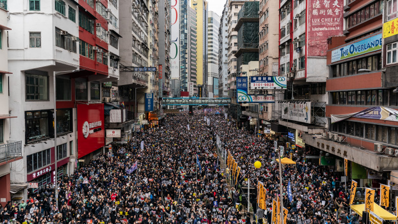 Hong Kong Marks New Year With Anti-Government Protests