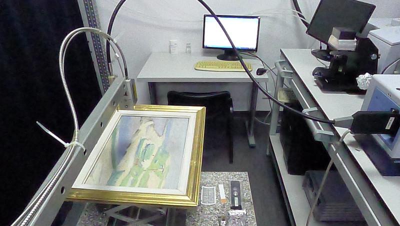 tablou supus autentificării la centrul de iradieri IRASM Măgurele