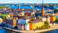 Vedere aeriană din Stockholm, capitala suediei