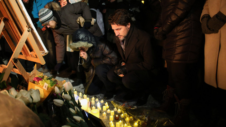 Vigil Held In Ottawa For Victims Of Ukraine International Airlines Crash