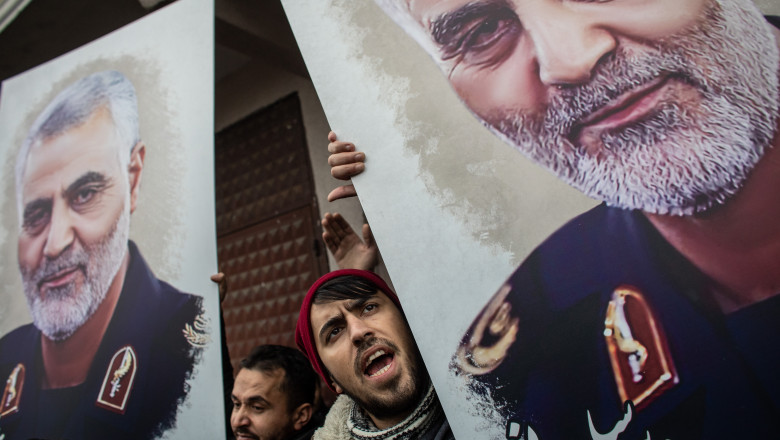 Protests At U.S. Consulate In Istanbul Following Killing Of Iranian General