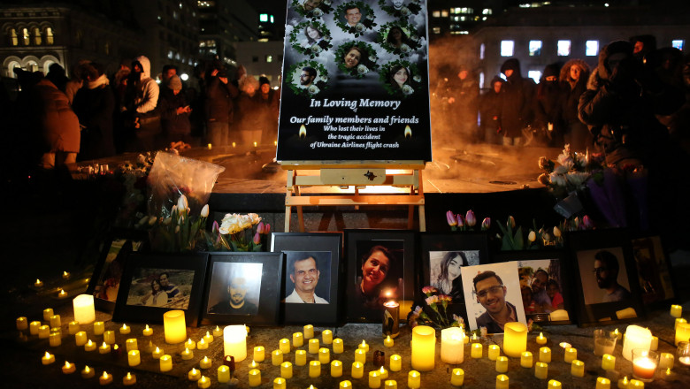 Vigil Held In Ottawa For Victims Of Ukraine International Airlines Crash