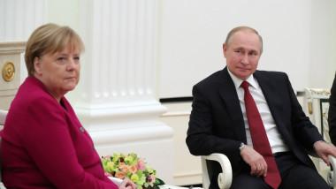 întâlnire Vladimir Putin cu Angela Merkel la Kremlin