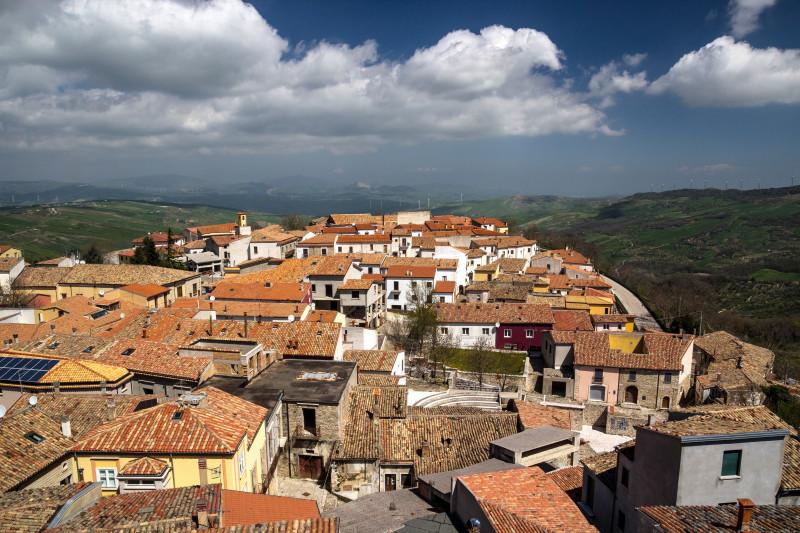 Landscape of Bisaccia (Avellino) Italy