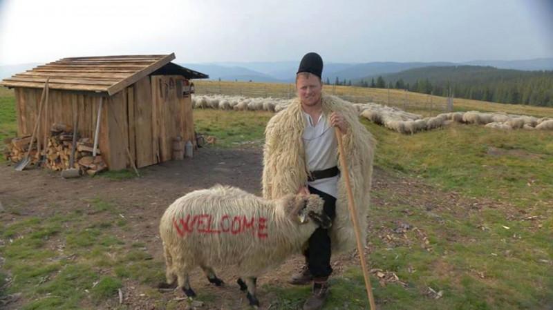 ghita ciobanul cu o oaie