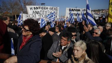 Anti migration protest on Lesvos island