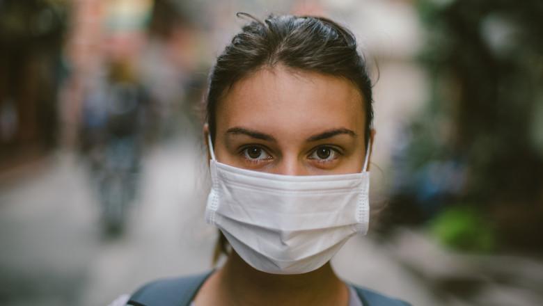 fata femeie masca virus coronavirus gripa epidemie oms