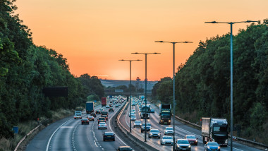 Trafic aglomerat pe o autostrada din Marea Britanie