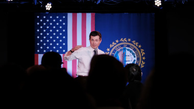 Presidential Candidate Pete Buttigieg Begins Bus Tour Across NH Ahead Of Primary