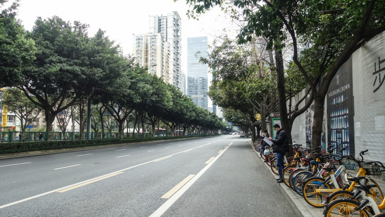 Empty City Of Chengdu In Spring Festival Vacation