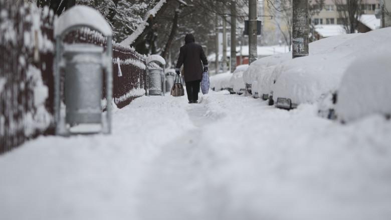 ninsoare bucuresti februarie