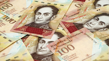 Venezuelan currency close up