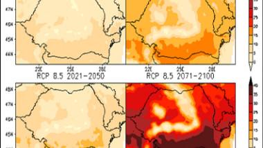 harta ANM previziuni schimbări climatice Romania