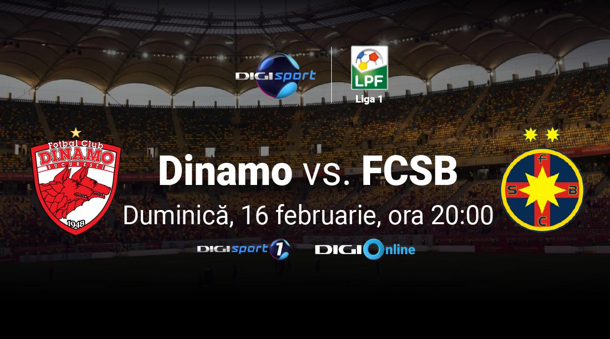 Se anunță spectacol! Dinamo - FCSB, în direct, la Digi Sport 1