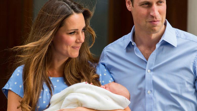 Prince George leaves the hospital