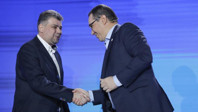 Victor Ponta și Marcel Ciolacu