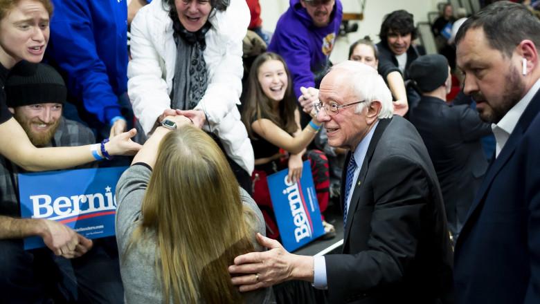 Bernie Sanders a pronit in campania electorala in New Hampshire