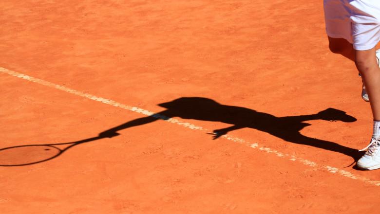 White tennis player