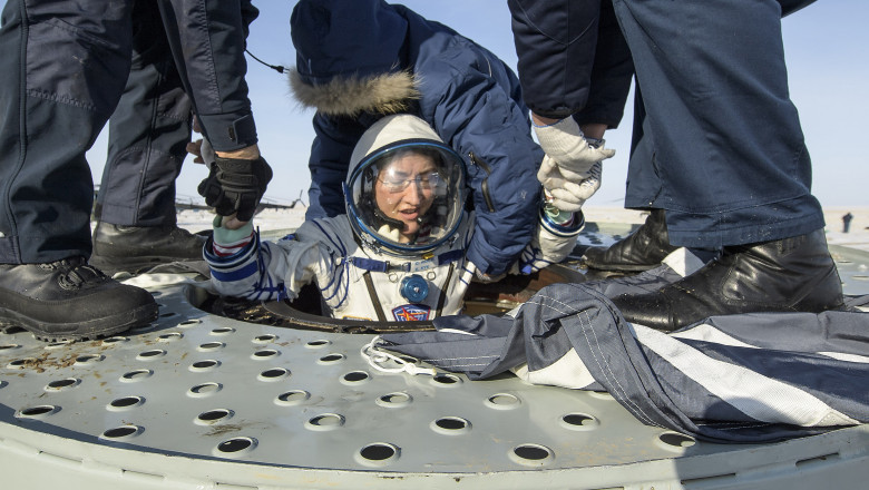 christina koch getty Expedition 61 Soyuz Landing