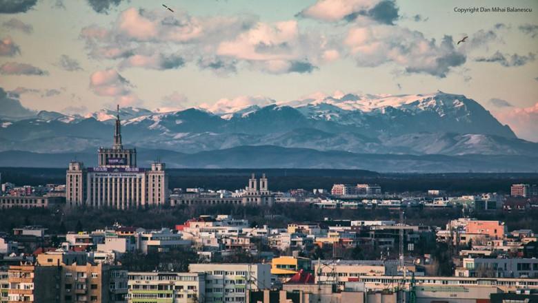 muntii Bucegi vazuti din Buc sursa FB Dan Mihai Bălănescu 130220