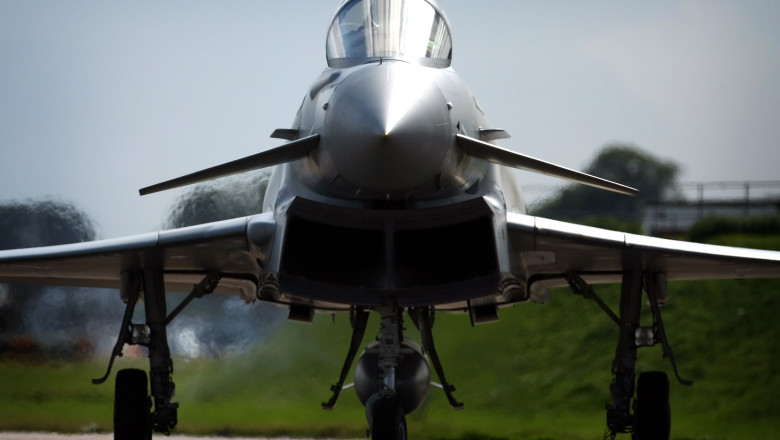Eurofighter Typhoon And Spitfires Join Forces For RAF Celebration
