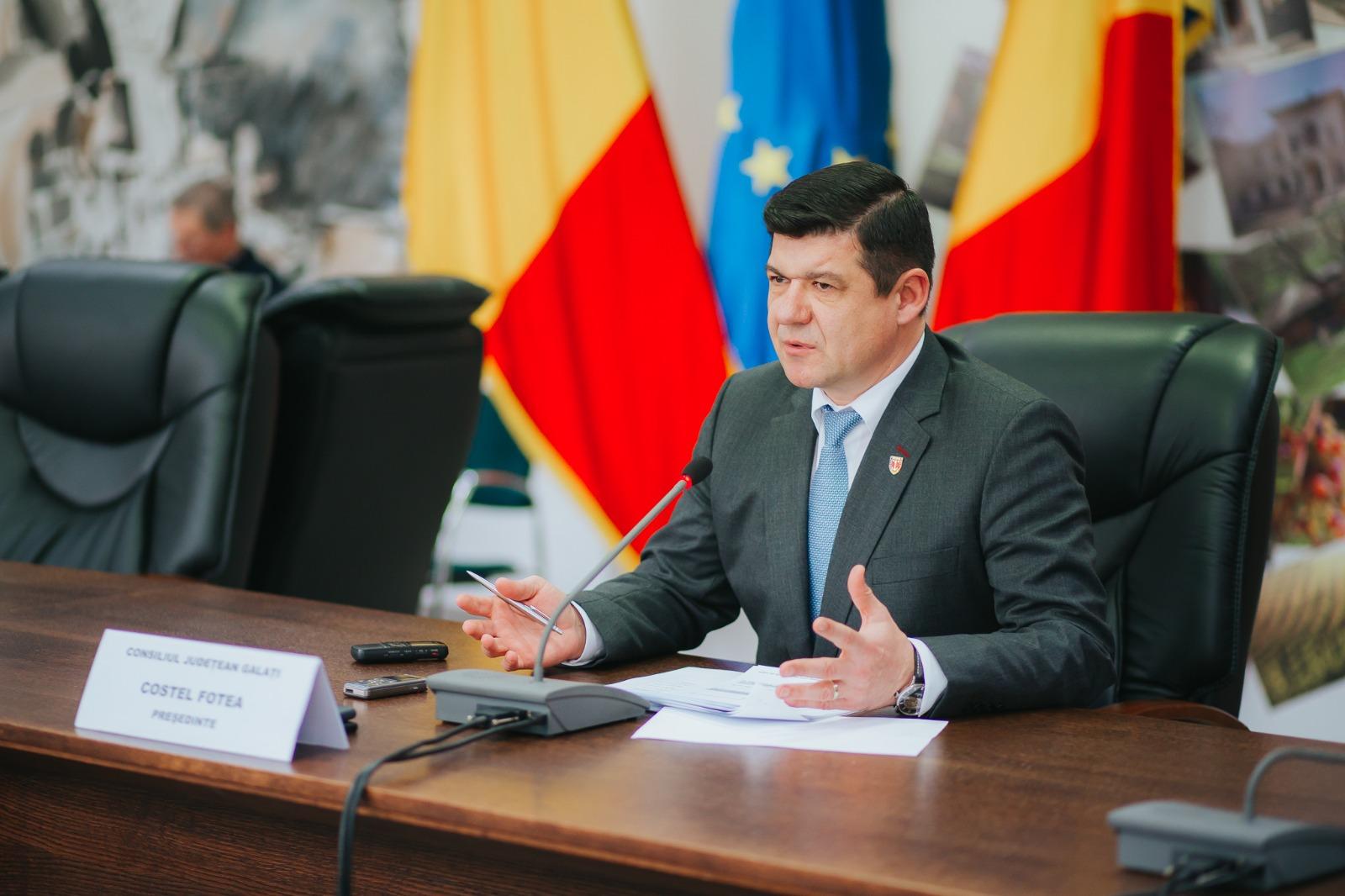 Judetul Galati va avea un buget record pentru investitii, anunta presedintele Consiliului Judetean