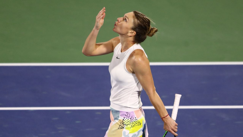 simona halep dubai 2020 getty