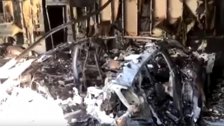 porsche taycan incendiu