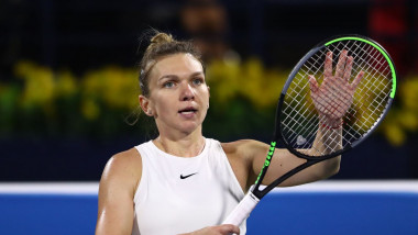 simona halep dubai 2020 getty 3
