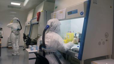 oameni de stiinta studiaza coronavirusul