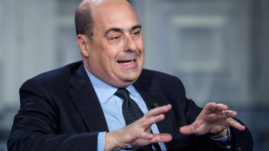 """Nicola Zingaretti ospite a """"Porta a Porta""""Nicola Zingaretti ospite a """"Porta a Porta"""""""