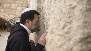 Mass Prayer At The Western Wall To Pray For Coronavirus Patients