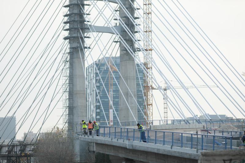 Podul de la Ciurel, lucrări