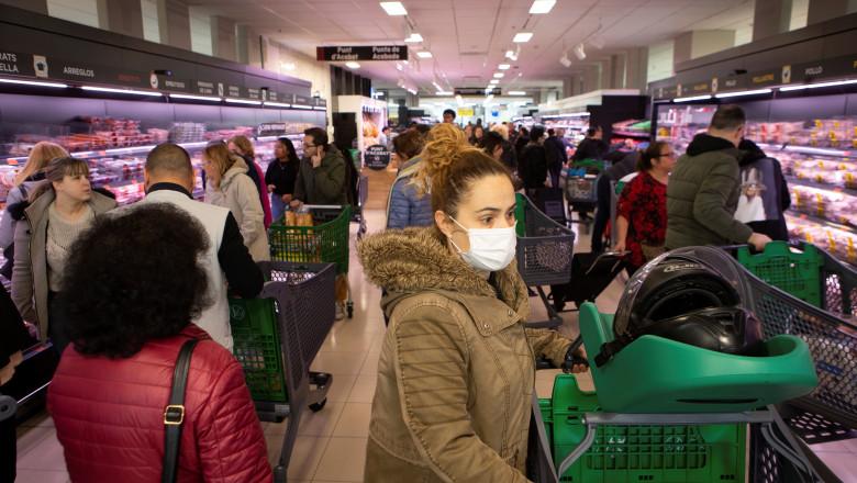 Closure of commerce in Spain to stop coronavirus spread
