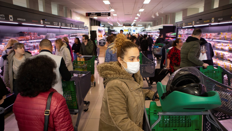 Closure of commerce in Spain to stop coronavirus spread