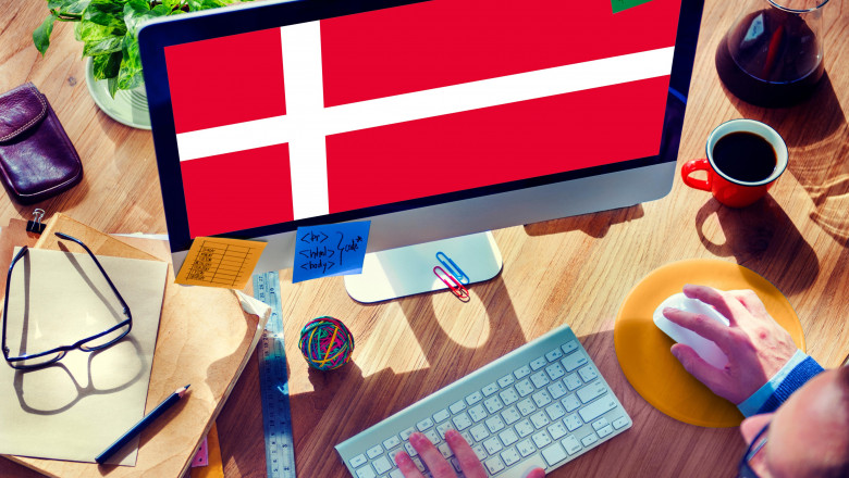Danish National Flag Government Freedom LIberty Concept