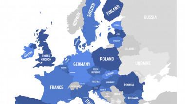 harta uniunea europeana ue