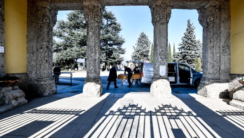 restricţii înmormântări Bergamo, Lombardia, Italia, din cauza epidemiei de coronavirus