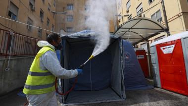 Coronavirus outbreak, Naples, Italy - 17 Mar 2020