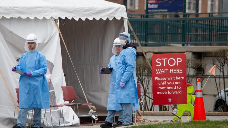Coronavirus outbreak, Philadelphia, Pennsylvania, USA - 19 Mar 2020