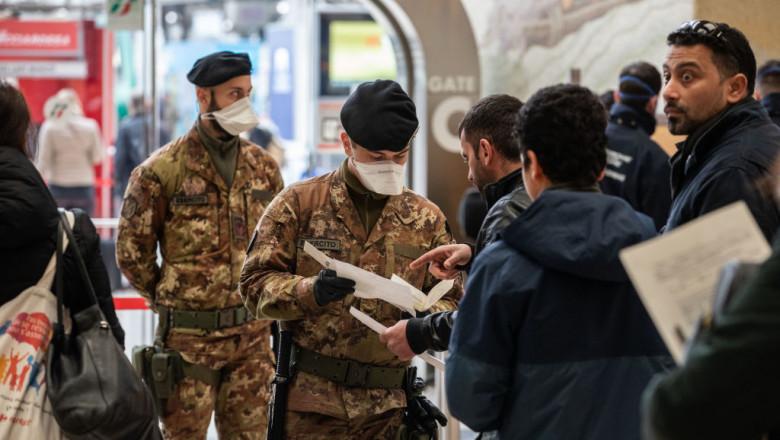 Italienii sunt atent verificati inainte de deplasari, de teama noului coronavirus