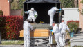 Ferrara, Italy. 21st Mar, 2020. Ferrara, March 21, 2020. Italian army's trucks transport the bodies of people dead in Bergamo (Italy) due to coronavirus infection to the cremation temple in Ferrara, Italy. Credit: Filippo Rubin/Alamy Live News