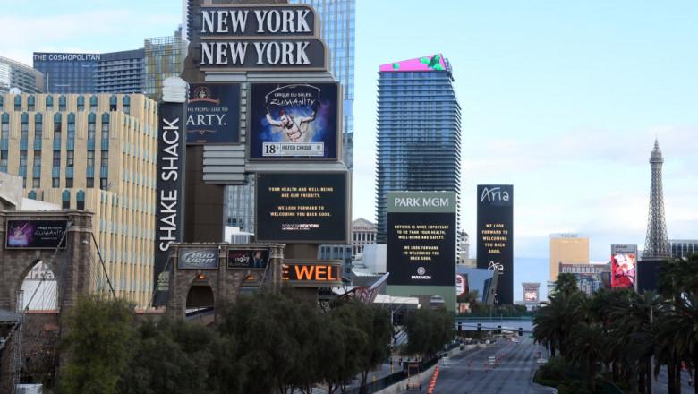 cazinourile închise în Las Vegas, din cauza coronavirusului