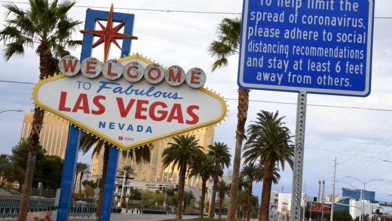 cazinouri închise în Las Vegas, din cauza pandemiei de Covid-19