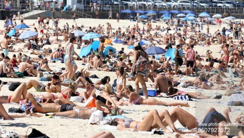 *EXCLUSIVE* What Coronavirus... beach goers pack like sardines at Bondi Beach