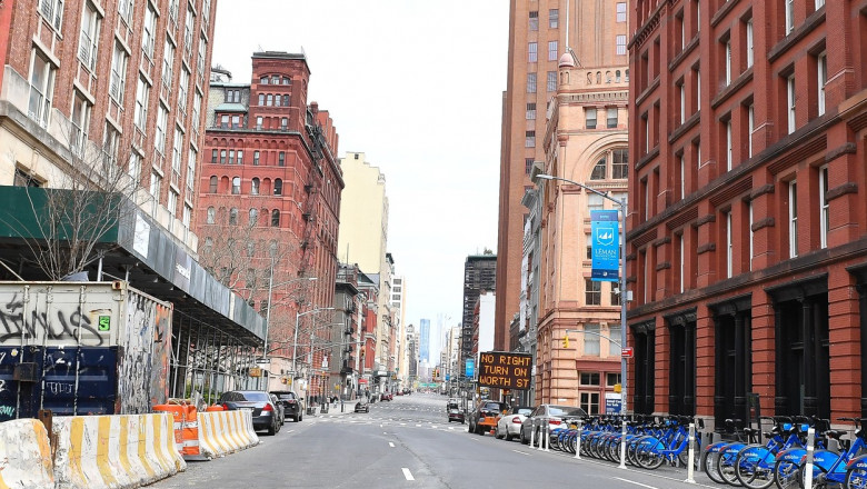 General views of Tribeca on the eve of Governor Cuomo shutting down New York City due to Coronavirus.