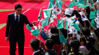 Turkmen President Berdymukhammedov Meets South Korean President Park