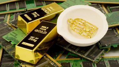aur provenit din deşeuri electrice