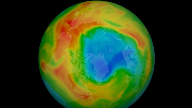strat ozon gaură pămât polul nord